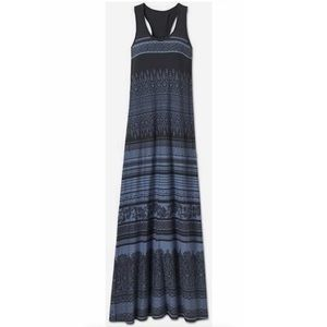 Athleta blue Printed Casual Maxi tank Dress